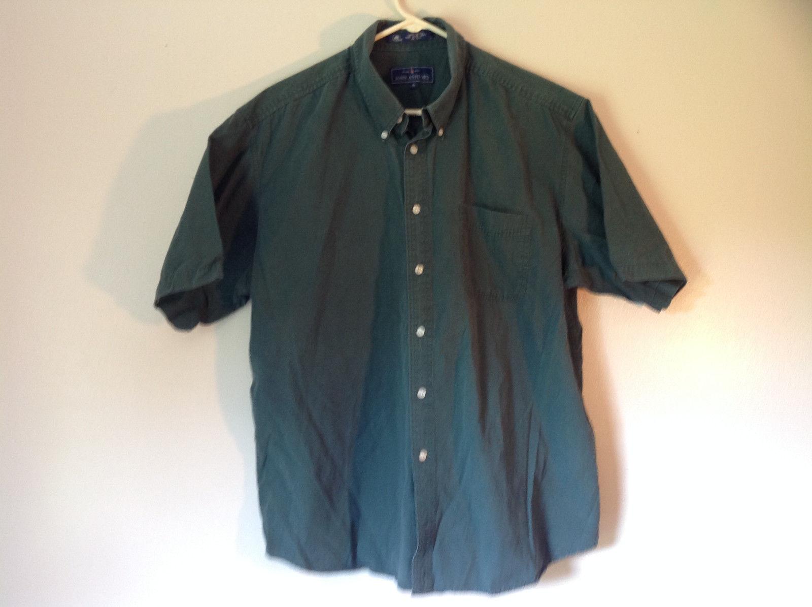 Size XL John Ashford Green Collared Short Sleeve Collared Button Down Shirt