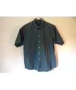 Size XL John Ashford Green Collared Short Sleeve Collared Button Down Shirt - $34.64