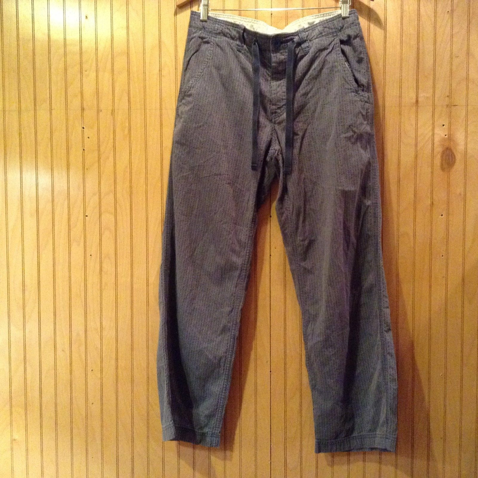 Size Small GAP Gray Blue Striped 100 Percent Cotton Casual Pants