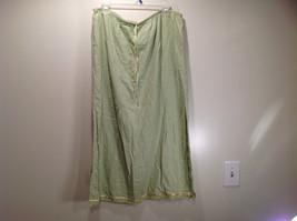 Size XL Katie Lee Light Green Long Skirt Side Slits Stretchy Waist