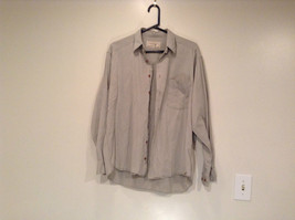 Size M Country Road Work Wear Long Sleeve Gray Button Shirt 100 Percent Cotton