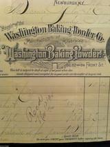 Antique 1894 receipt Washington Baking Powder Co Newburgh New York framed image 5