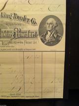 Antique 1894 receipt Washington Baking Powder Co Newburgh New York framed image 6