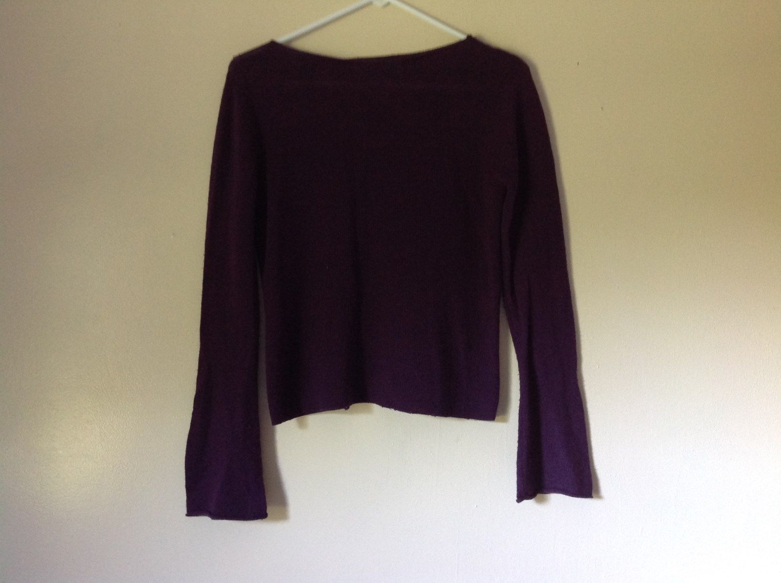 Size Small Valerie Stevens 100 Percent Extra Fine Merino Wool Purple Sweater