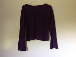 Size Small Valerie Stevens 100 Percent Extra Fine Merino Wool Purple Sweater