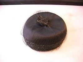 Skolnips Vintage Small Black Hat w veil and sparkles
