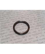 Skinny Flat Hematite Natural Stone Ring Sizes 6.5 to 9 Shiny Metallic Look - $29.69