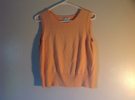 Sleeveless Peach Stretchy Petite Sophisticate Size Large Designer Top