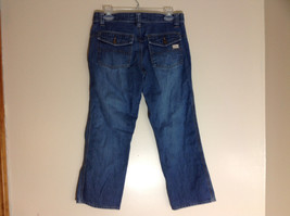 Old Navy Ultra Low Waist Capri Blue Jeans Front and Back Pockets Size 8 image 7