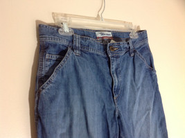 Old Navy Ultra Low Waist Capri Blue Jeans Front and Back Pockets Size 8 image 2
