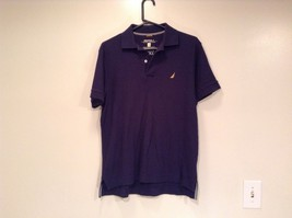 Size XS Nautica Dark Blue 100 Percent Cotton Short Sleeve Collared Polo Shirt