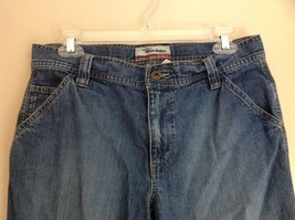 Old Navy Ultra Low Waist Capri Blue Jeans Front and Back Pockets Size 8 image 3