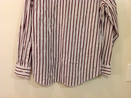 Old Navy Maroon Gray White Striped 100% cotton Shirt, Size M image 3