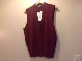 Sleeveless Burgundy Crest Vest Men Crew New image 1