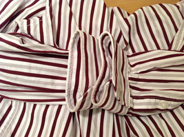 Old Navy Maroon Gray White Striped 100% cotton Shirt, Size M image 7