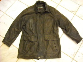 Small 100% Leather Jacket by Wilsons