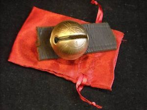 Small #4 Brass Sleigh Bell on Leather Strap