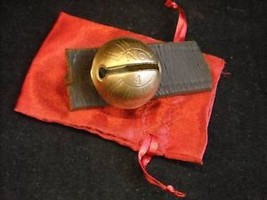 Small #4 Brass Sleigh Bell on Leather Strap - $49.49