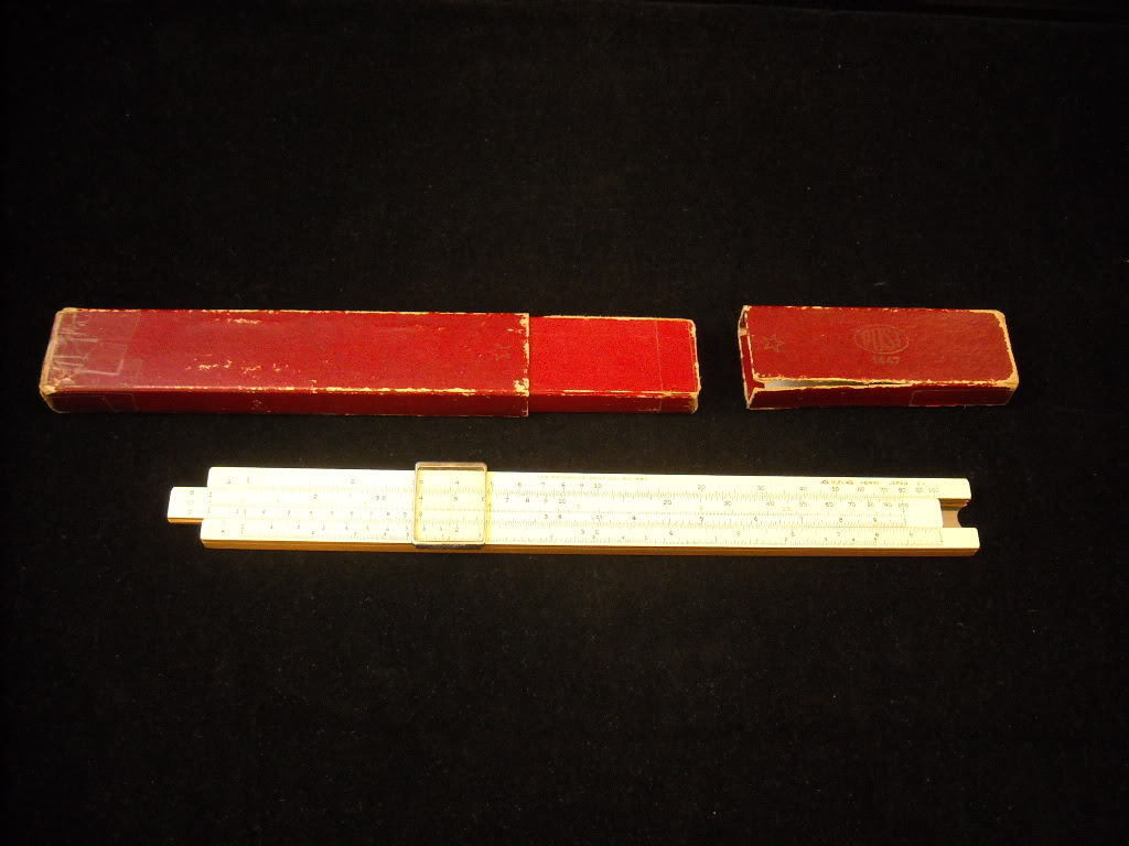 Slide Rule by Frederick Post Co in Case
