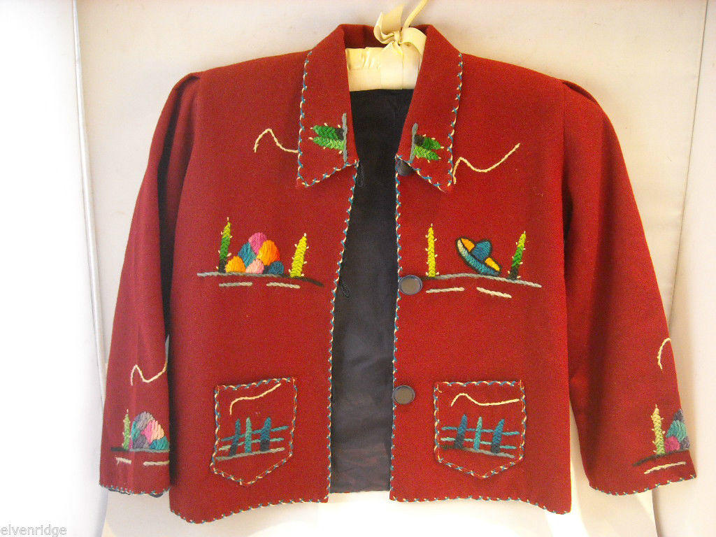 Small Embroidered Jacket from Mexico
