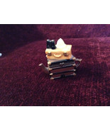 Small Brown Chest Yellow Suitcase Hat Binoculars Figurine Resembles a Te... - $39.99