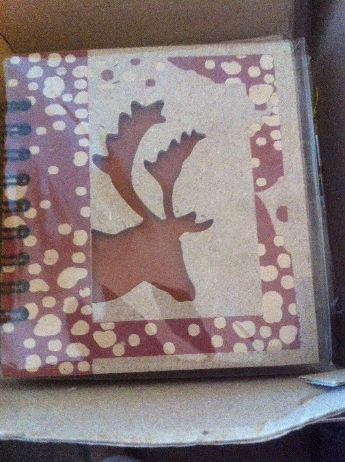 Small Nota Bene Reindeer Caribou Profile mini writing journal NEW w stencil