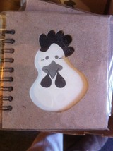 Small Nota Bene Farm Chicken Profile mini journal NEW w stencil