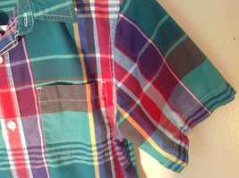 Old Navy Button Down Plaid Short Sleeve Shirt Collar Pocket Size XL image 3