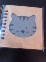 Small Nota Bene Striped tabby cat kitten Profile mini  journal NEW w stencil