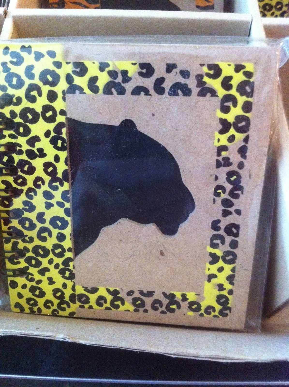 Small Nota Bene Jaguar Profile mini writing notebook journal NEW w stencil