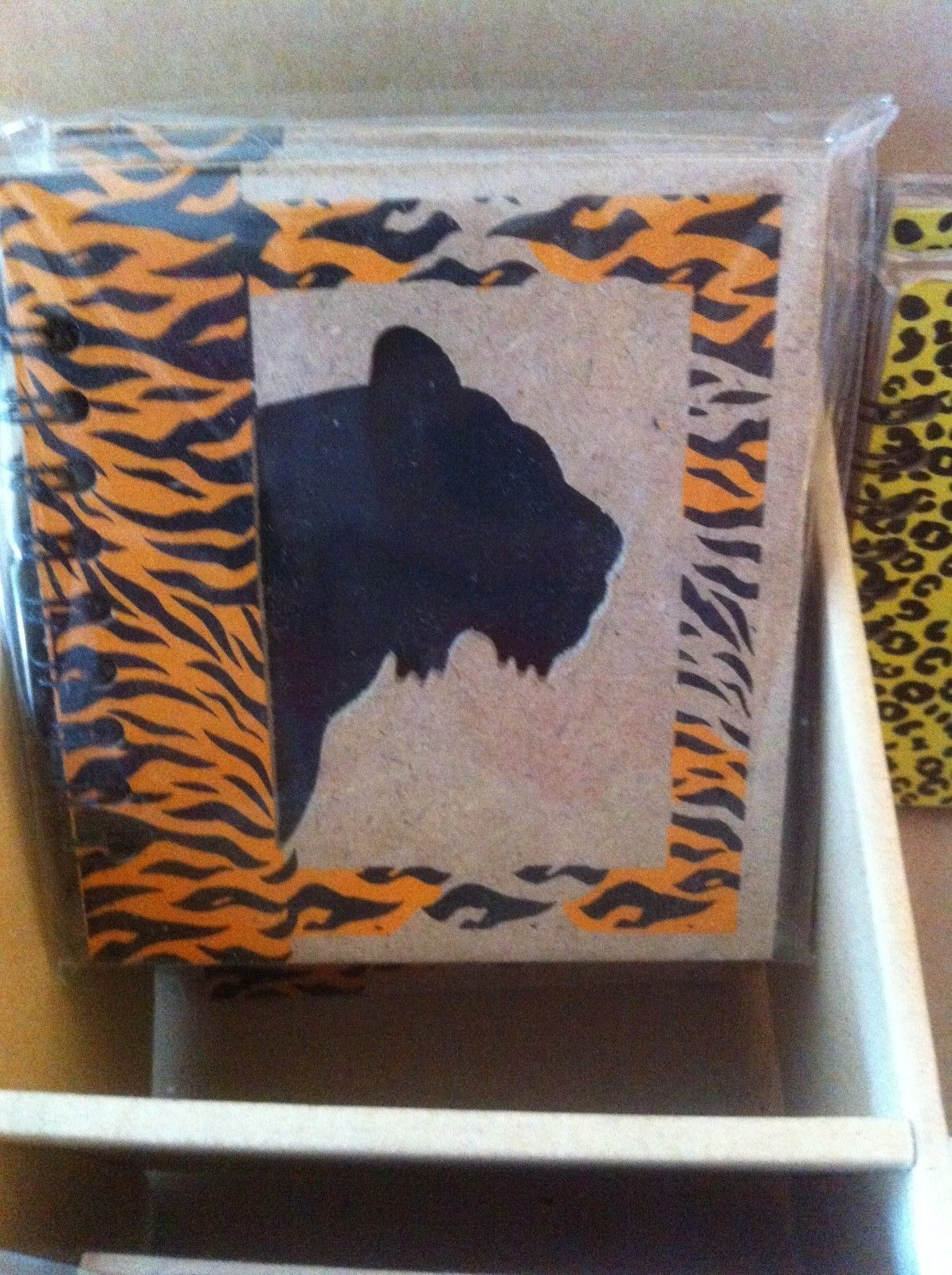 Small Nota Bene Tiger  Profile mini writing notebook journal NEW w stencil
