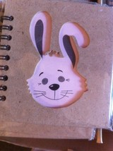 Small Nota Bene Striped bunny rabbit  Profile mini  journal NEW w stencil
