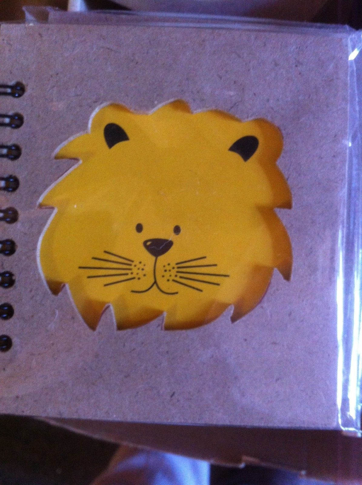Small Nota Bene baby Lion  Profile mini journal NEW w stencil