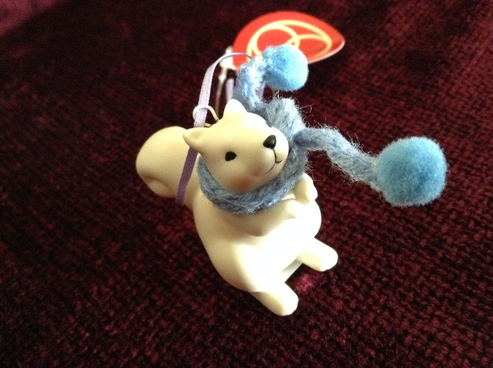 Small Porcelain Squirrel Figurines Different Colored Scarves Sold Separately