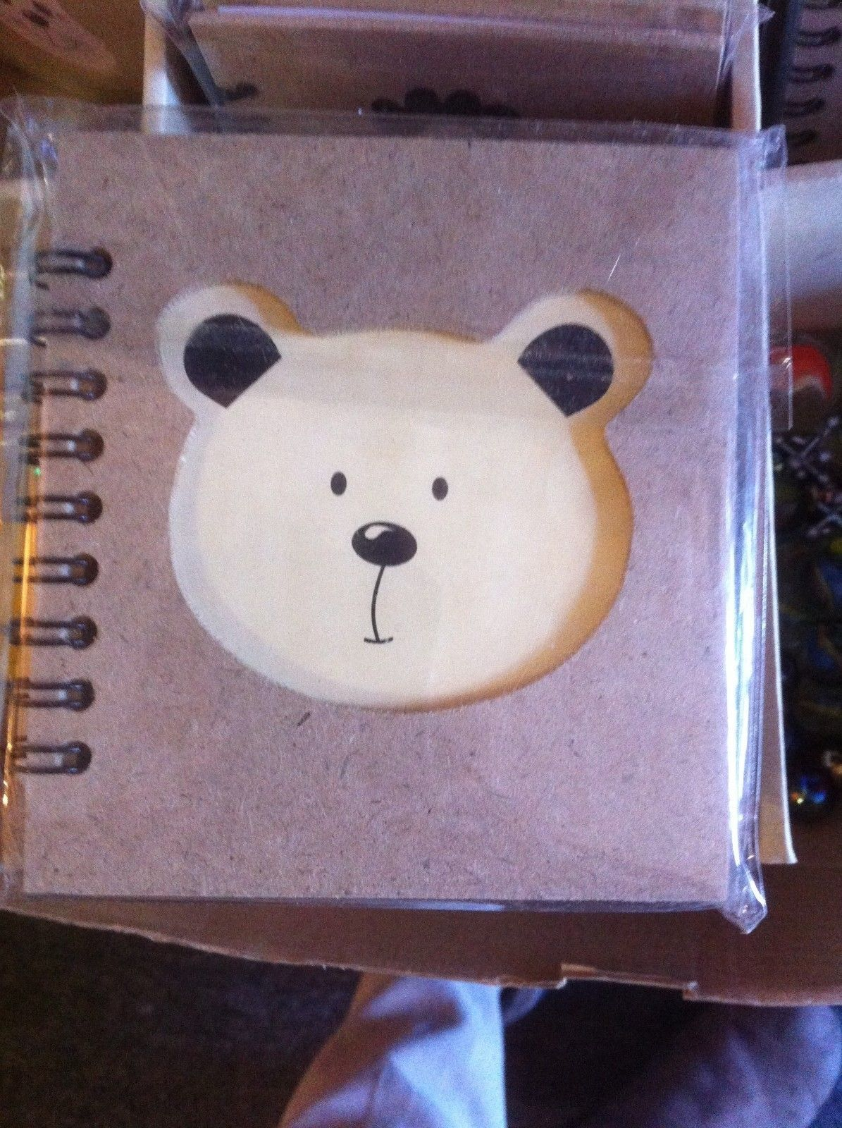 Small Nota Bene Teddy  Bear  Profile mini journal NEW w stencil