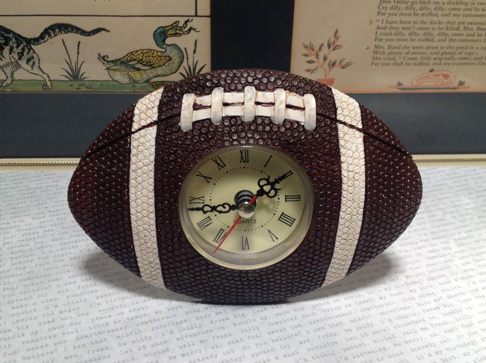 Small Resin Quartz Football Shape Table Clock