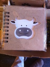 Small Nota Bene happy Farm Cow  Profile mini journal NEW w stencil