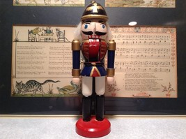 Small Soldier Nutcracker with Movable Arms Eight and a Half Inches Tall