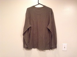 Olive Green Long Sleeve 100 Percent Cotton Sweater by Arrow Size XL image 3