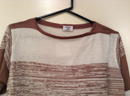 Ombre Brown & White Long Sleeve Cardigan One Size New w glitter sparkle image 4