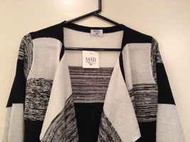 Ombre Black & White Long Sleeve Cardigan Sweater Wrap New w glitter sparkle image 3