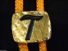 """Orange Bolo Tie with """"T"""" on the clasp image 2"""