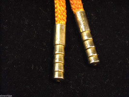 """Orange Bolo Tie with """"T"""" on the clasp image 4"""