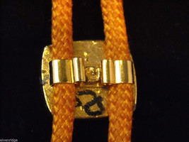 """Orange Bolo Tie with """"T"""" on the clasp image 3"""