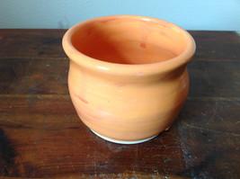 Orange Hand Crafted Artisan Ceramic Vase Jar Bowl Crock 2007 image 3