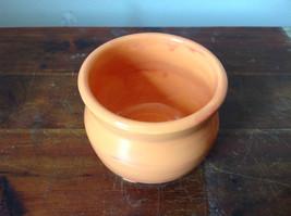 Orange Hand Crafted Artisan Ceramic Vase Jar Bowl Crock 2007 image 2