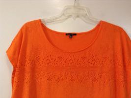 Orange Sleeveless Chaus Sport Top Cutout Fabric Boat Neck Size  XXL image 3