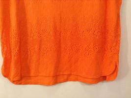 Orange Sleeveless Chaus Sport Top Cutout Fabric Boat Neck Size  XXL image 5