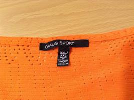 Orange Sleeveless Chaus Sport Top Cutout Fabric Boat Neck Size  XXL image 8