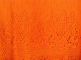 Orange Sleeveless Chaus Sport Top Cutout Fabric Boat Neck Size  XXL image 4